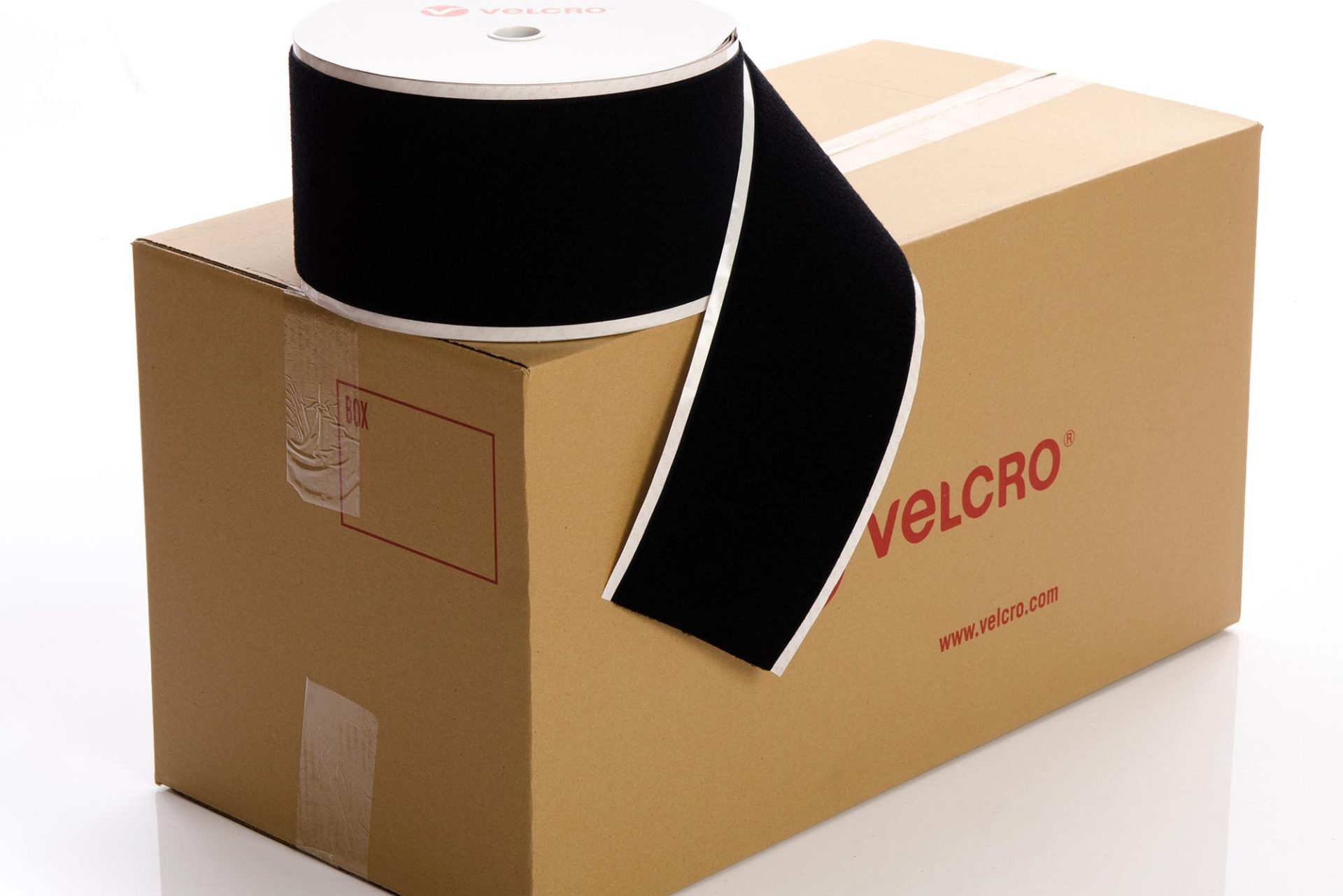 VELCRO® Brand PS14 Stick-on 150mm tape BLACK LOOP case of 6 rolls