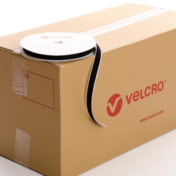 VELCRO® Brand PS14 Stick-on 20mm tape BLACK HOOK case of 42 rolls