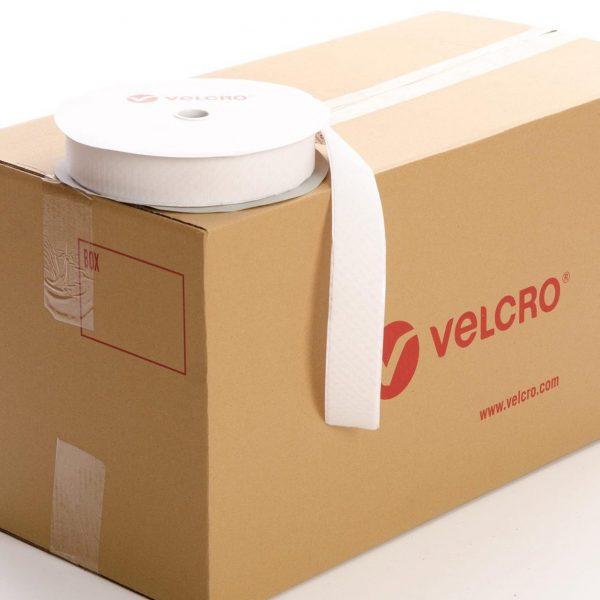 VELCRO® Brand PS14 Stick-on 50mm tape WHITE HOOK case of 21 rolls