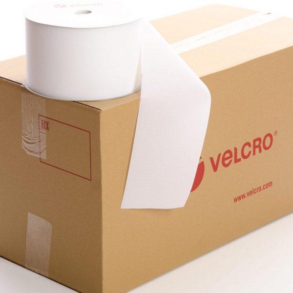 VELCRO® Brand Sew-on 150mm tape WHITE HOOK case of 6 rolls