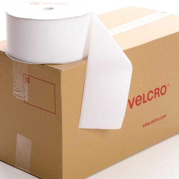 VELCRO® Brand Sew-on 150mm tape WHITE LOOP case of 6 rolls