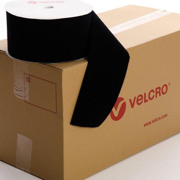 VELCRO® Brand Sew-on 150mm tape BLACK LOOP case of 6 rolls