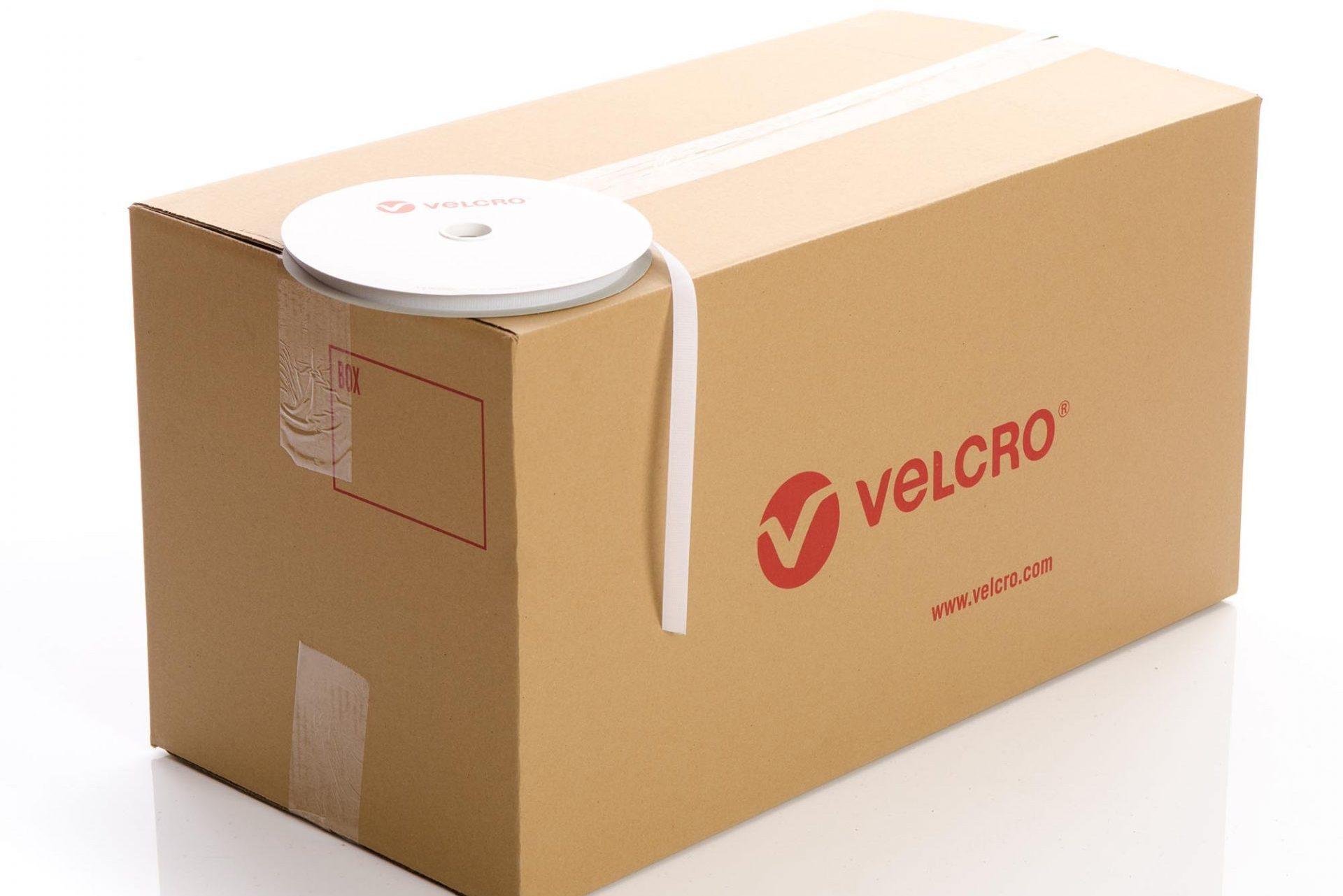 VELCRO® Brand Sew-on 16mm tape WHITE HOOK case of 60 rolls