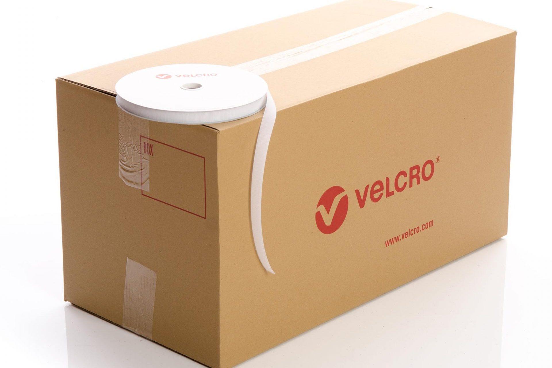VELCRO® Brand Sew-on 20mm tape WHITE HOOK case of 51 rolls