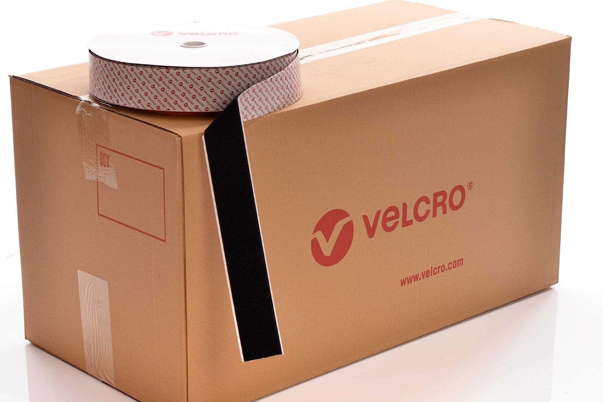 VELCRO® Brand PS51 Heavy duty Stick-on 50mm tape BLACK LOOP case of 10 rolls