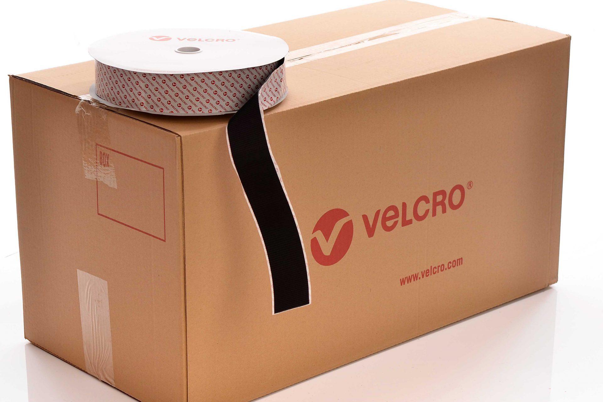 VELCRO® Brand PS52 Heavy duty Stick-on 50mm tape BLACK HOOK case of 10 rolls