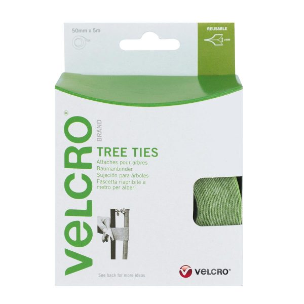 VELCRO® Brand Tree ties 5m x 50mm GREEN
