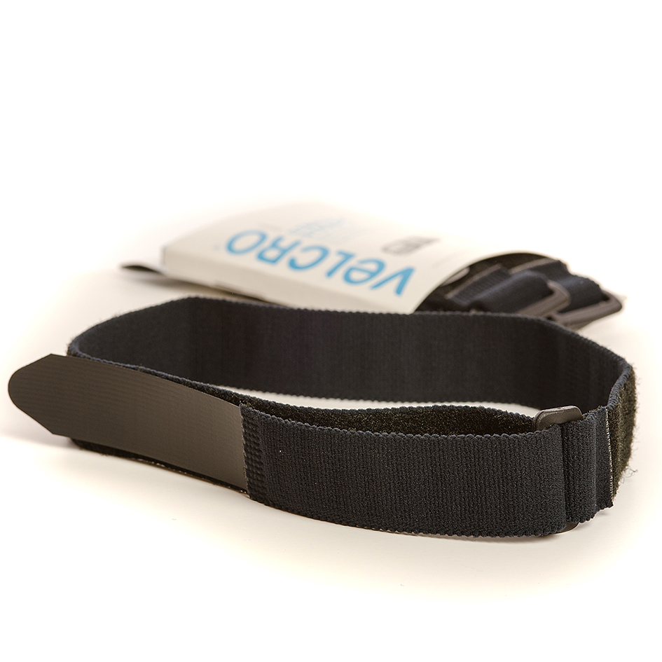 VELCRO® Brand 2 Stretch straps 68cm x 25mm BLACK