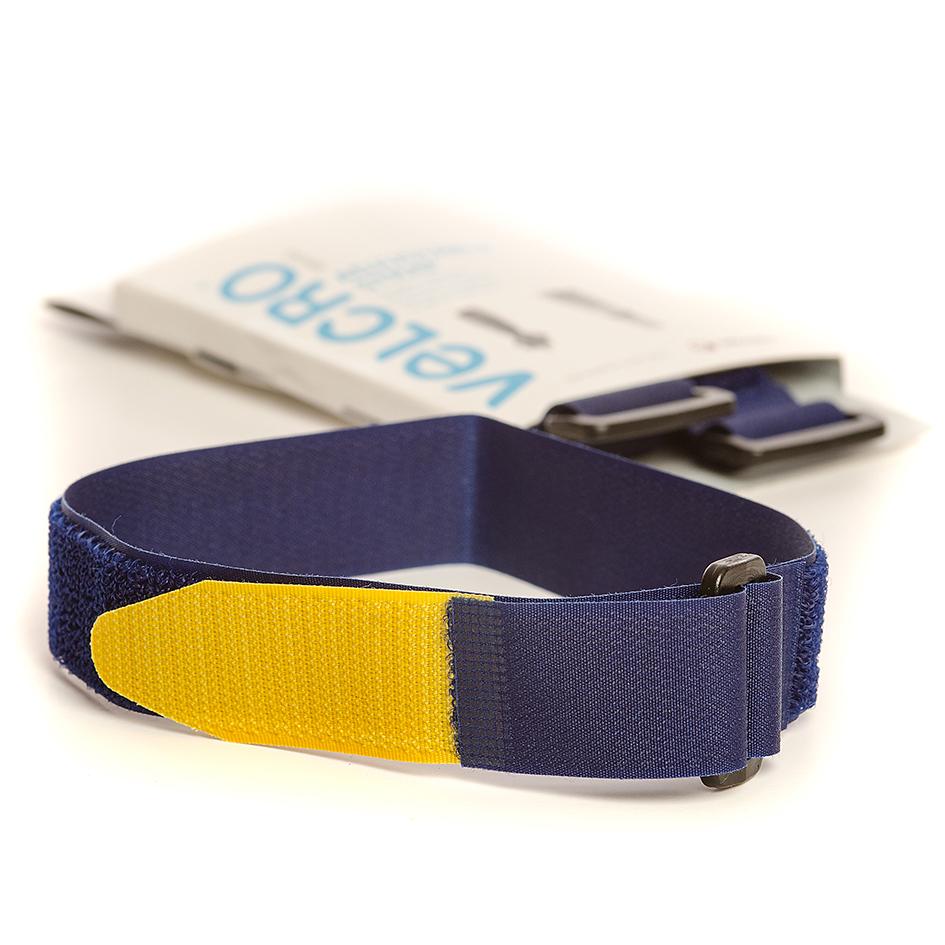 VELCRO® Brand 2 Adjustable straps 46cm x 25mm BLUE/YELLOW