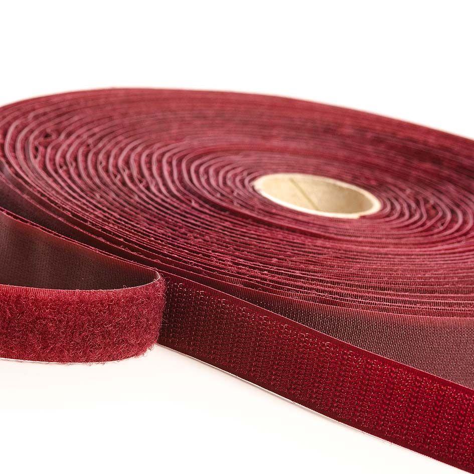 VELCRO® Brand Sew-on 10m x 20mm tape BURGUNDY